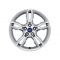 """Alufelge 43,18 cm (17"""") 5 x 2-Speichen-Design, Nickel-Optik für den Ford C-Max 2010-2015"""