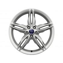 """Alufelge 48,26 cm (19"""") 5 x 2-Speichen-Design, silber glanzgedreht für den Ford Kuga 2012-2016"""