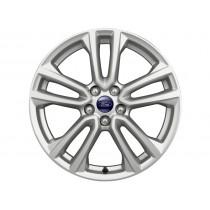 """Alufelge 45,72 cm (18"""") 5 x 2-Speichen-Design, silber, glanzgedreht für den Ford Kuga 2012-2016"""