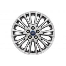 """Alufelge 43,18 cm (17"""") 10-Speichen-V-Design, silber für den Ford S-Max II 2015-"""