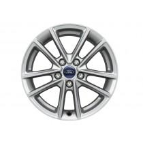 """Alufelge 40,64 cm (16"""") 5 x 2-Speichen-Design, silber für den Ford Focus III 2014-"""