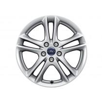 """Alufelge 43,18 cm (17"""") 5 x 2-Speichen-Design, silber für den Ford Mondeo V 2014-"""