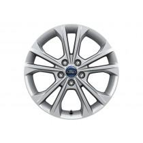 """Alufelge 43,18 cm (17"""") 5 x 2-Speichen-Design, silber für den Ford Kuga 2016-"""