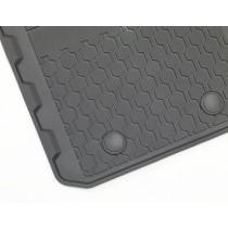 Allwetterfußmatten vorn und hinten, schwarz für den Ford Ranger 2012-